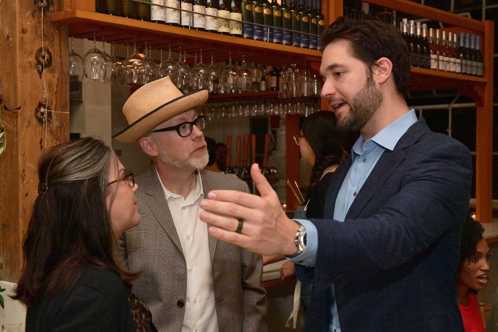 SAN FRANCISCO, CA - OCTOBER 14: Julia Savage, Adam Savage and Alexis Ohanian attend VIP Dinner For WIRED's 25th Anniversary, Hosted By Nicholas Thompson And Anna Wintour at Tartine Manufactory on October 14, 2018 in San Francisco, California. (Photo by Matt Winkelmeyer/Getty Images for WIRED25 )