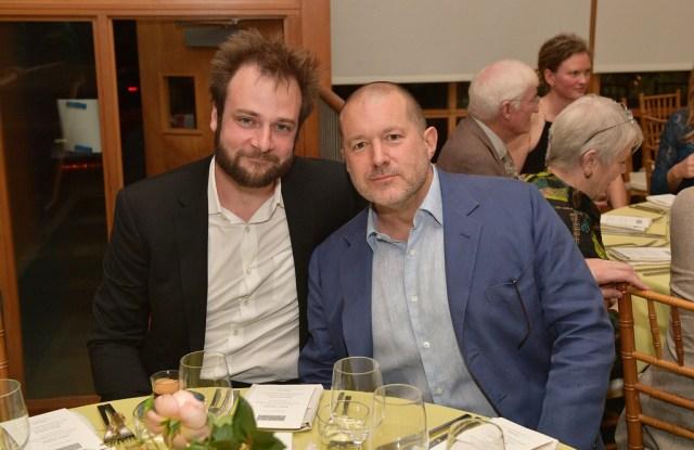 Evan Sharp and Jony Ive (right).
