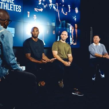 Art of Sport founding partner Kobe Bryant, CEO Matthias Metternich and cofounder Brian Lee