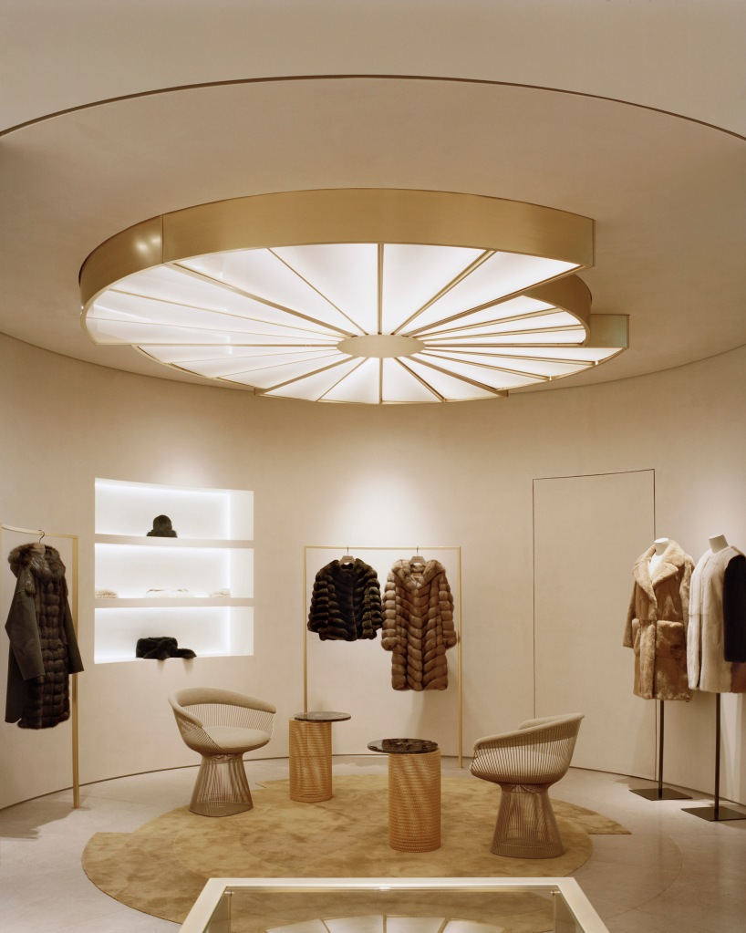 Inside the Yves Salomon Conduit Street boutique