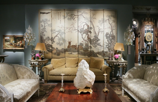 """Some of the lots exhibited during the """"Pierre Bergé, From One Home to Another"""" sale at Sotheby's Paris"""