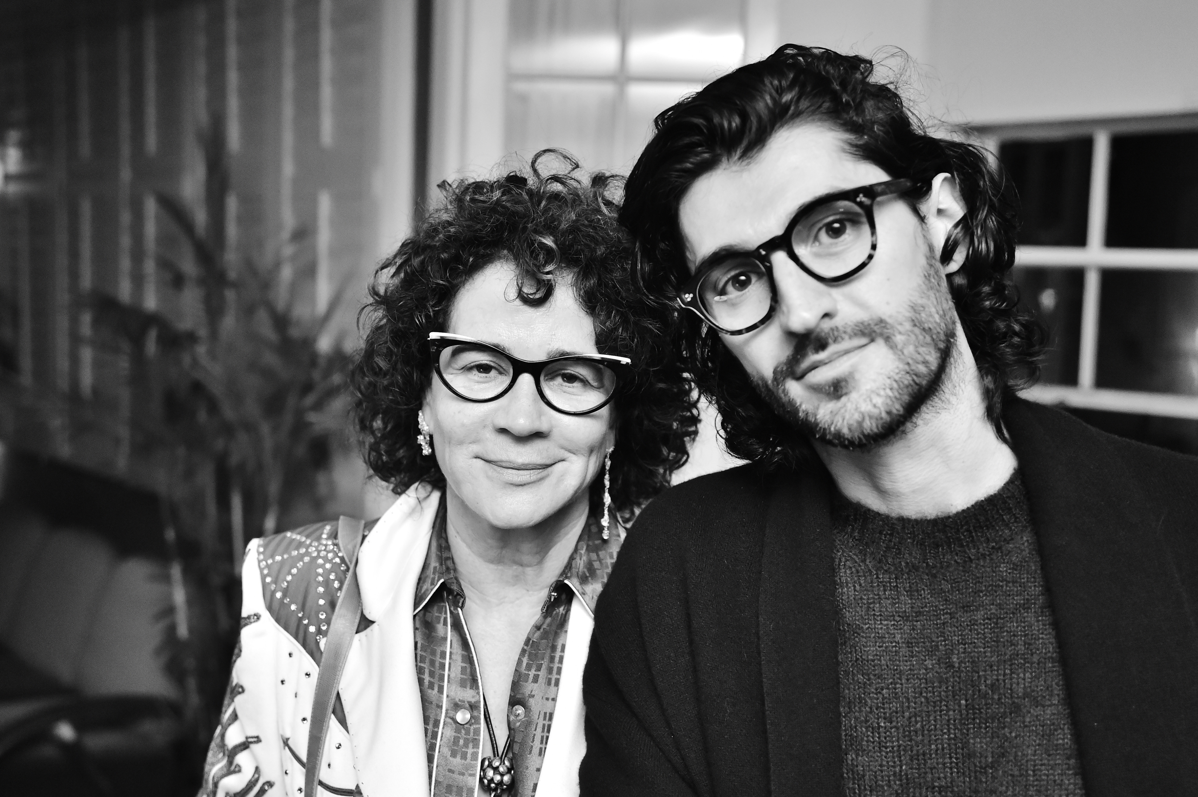 """Lisa Eisner and Giampiero Tagliaferri attend Oliver Peoples & Assouline Present """"California As We See It"""" at Chateau Marmont on November 29, 2018 in Los Angeles, California. (Photo by Stefanie Keenan/Getty Images for Oliver Peoples)"""