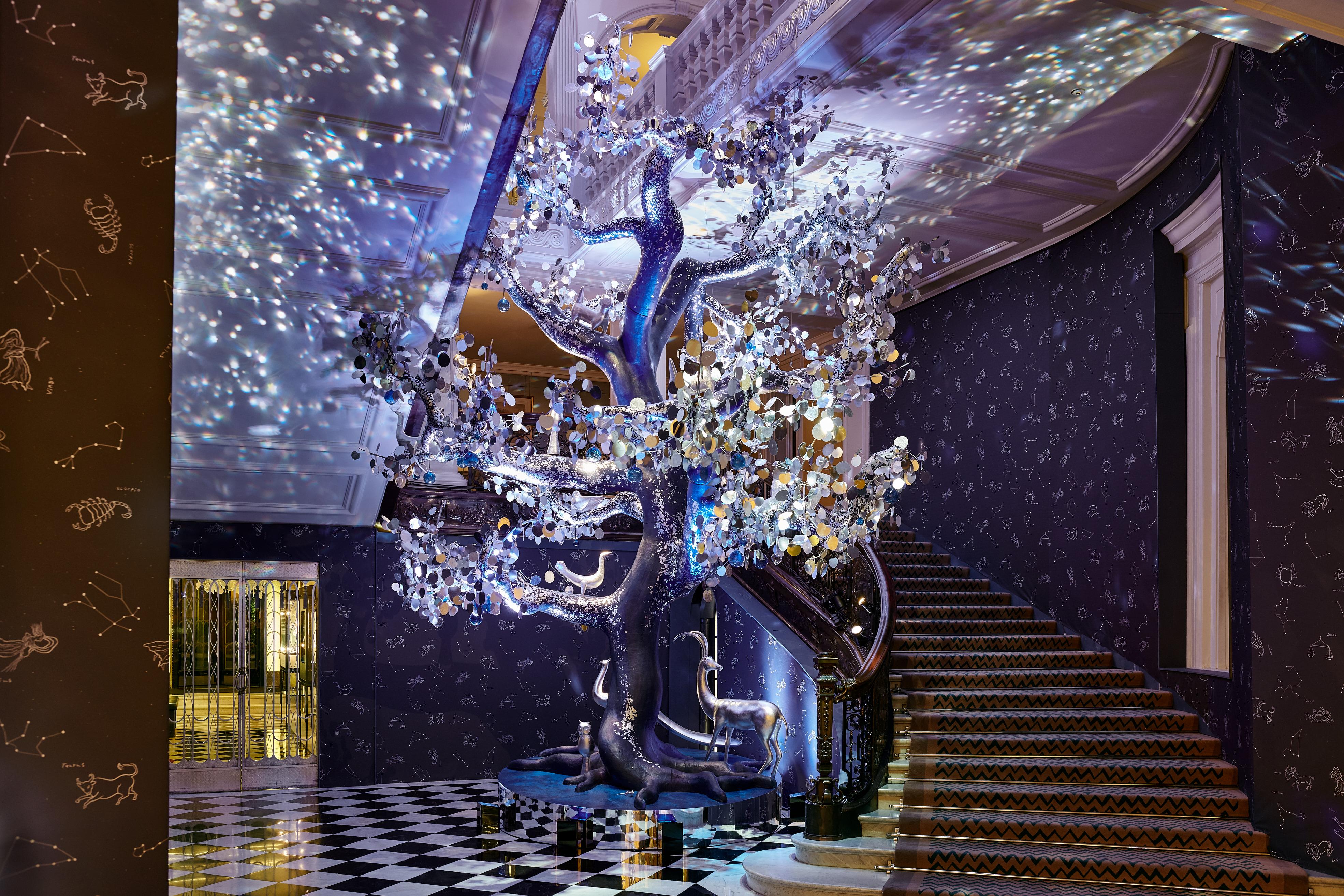 Claridge's Christmas tree designed by Diane von Furstenburg