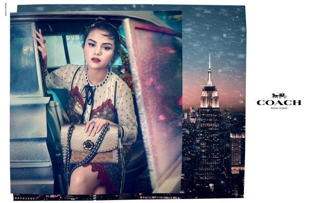 Selena Gomez in the Coach holiday campaign.