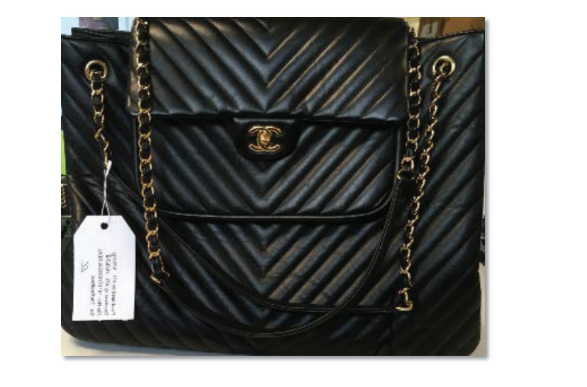 An allegedly counterfeit Chanel bag, as seen in court documents.