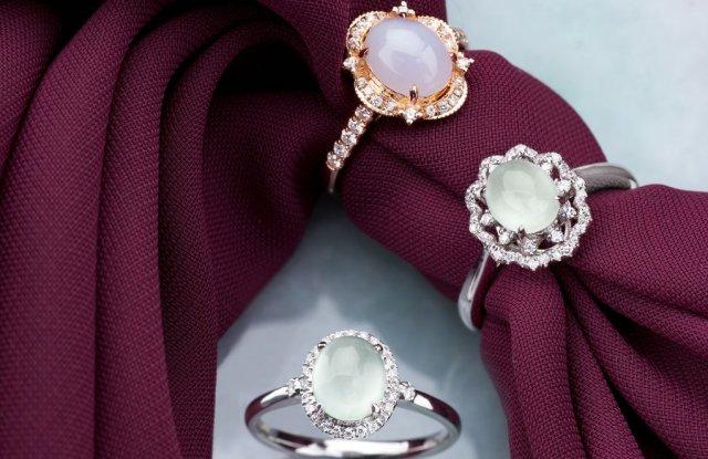 Chooyi Lin jadeite engagement rings