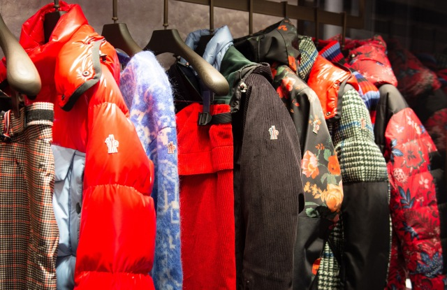 A close-up of 3 Moncler Grenoble jackets.