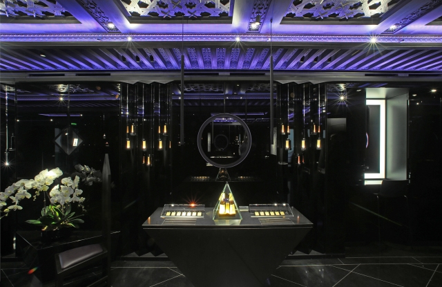 Inside the new Serge Lutens boutique.