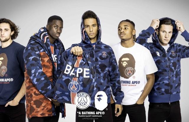 The BAPE x PSG collaboration