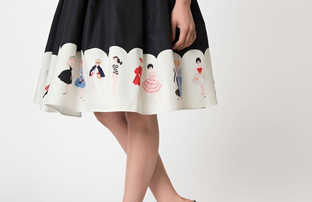 A Barbie-inspired skirt from Unique Vintage Clothing.