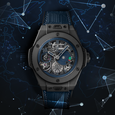 The Hublot Big Bang Meca-10 P2P watch is the first model from the brand to be sold online and can only be purchased with bitcoin.