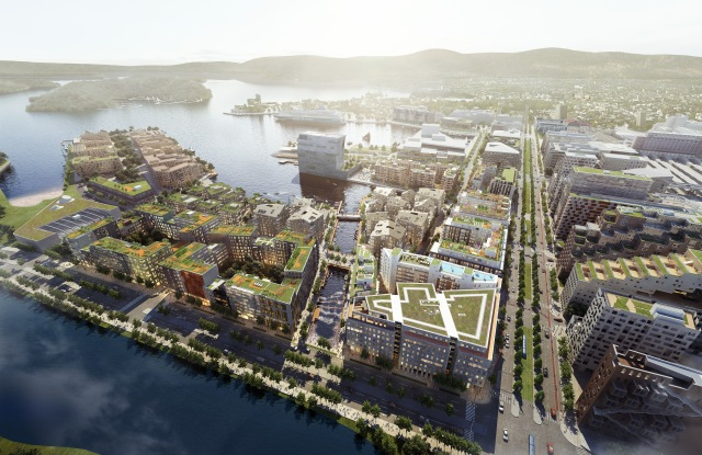 Bispevika is a mixed-use development on the waterfront in Oslo