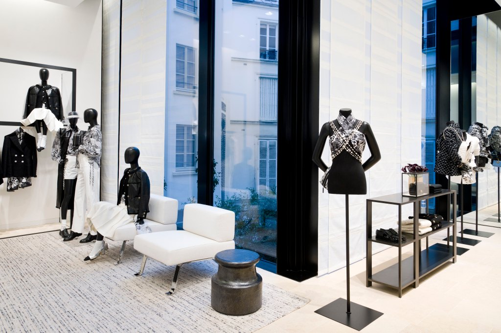 A view of the inner courtyard in Chanel's new Paris flagship.