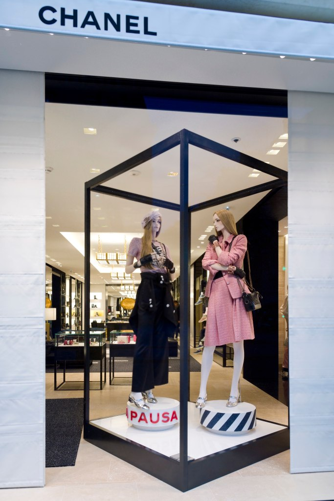 A window display at Chanel's new flagship store in Paris.