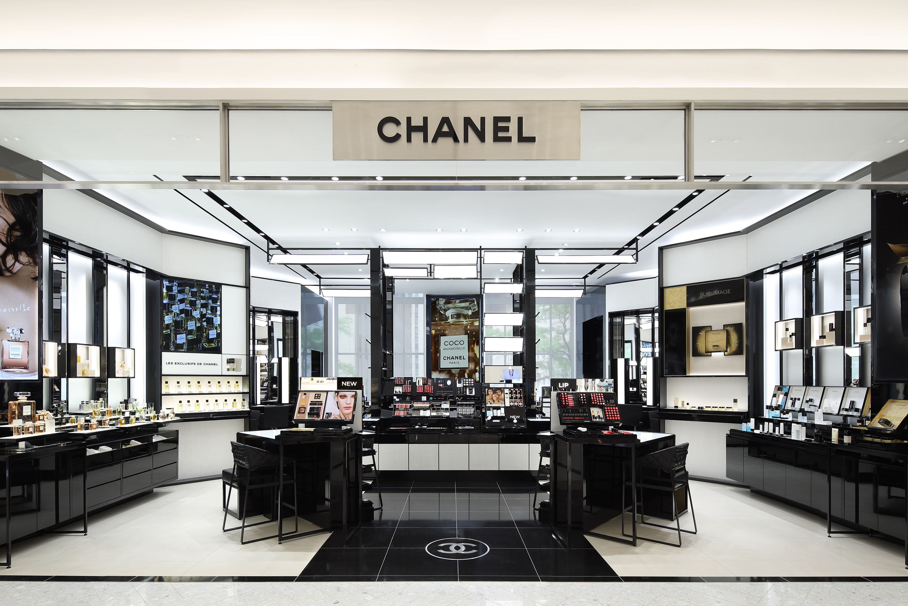Chanel's Saks Fifth Avenue Fragrance & Beauty department in New York.