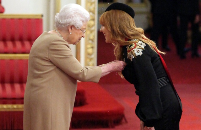 Charlotte Tilbury is made an MBE by Queen Elizabeth II at Buckingham Palace.