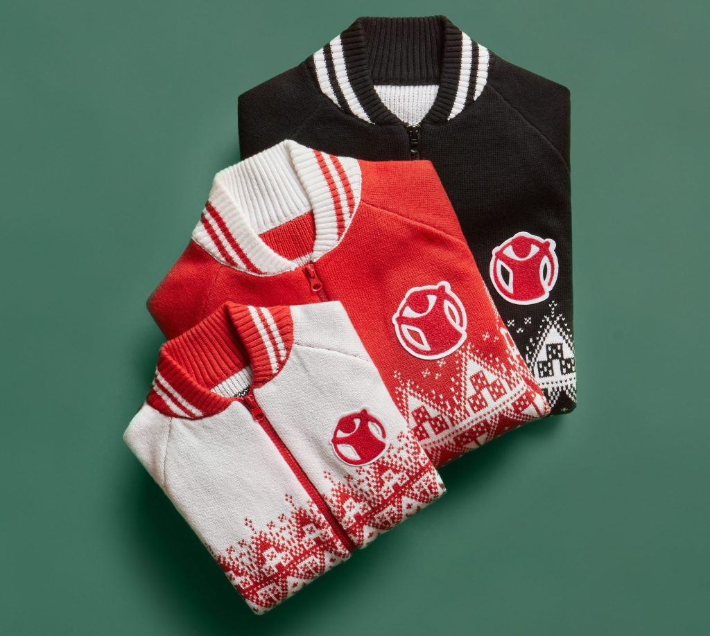 The capsule collection of Christmas jumpers designed by Frida Giannini for OVS.