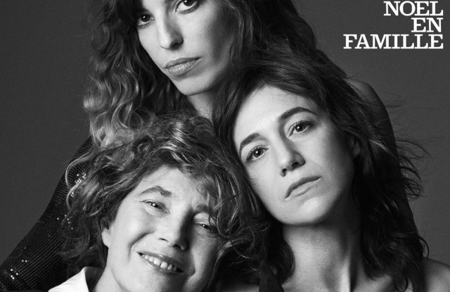 Jane Birkin, Charlotte Gainsbourg and Lou Doillon on the cover of Vogue Paris December 2018