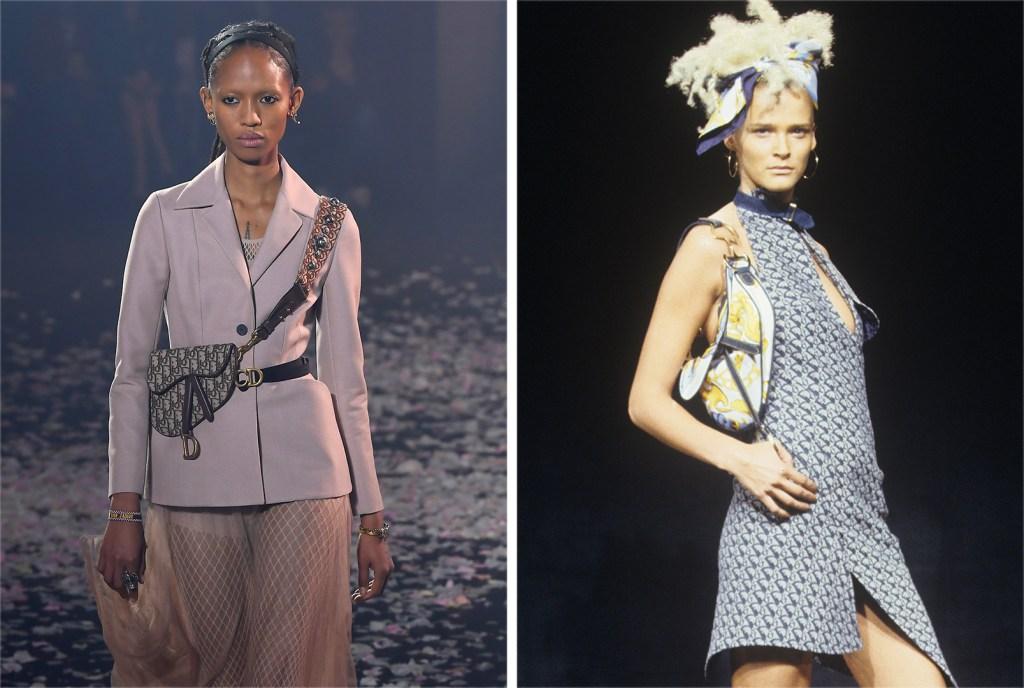 Right: Christian Dior RTW Spring 2000; Left: Christian Dior RTW Spring 2019