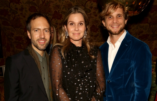 Peter Pilotto, Aerin Lauder and Christopher De Vos at the Cabana dinner at 5 Hertford Street.