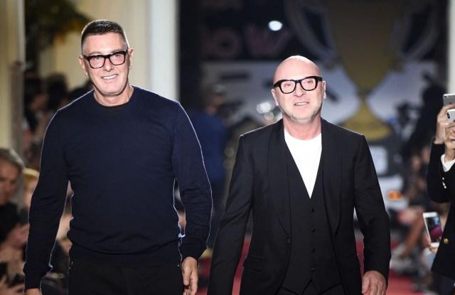 Stefano Gabbana, Domenico DolceDolce & Gabbana Unexpected show, Runway, Fall Winter 2018, Milan Fashion Week Men's, Italy - 13 Jan 2018