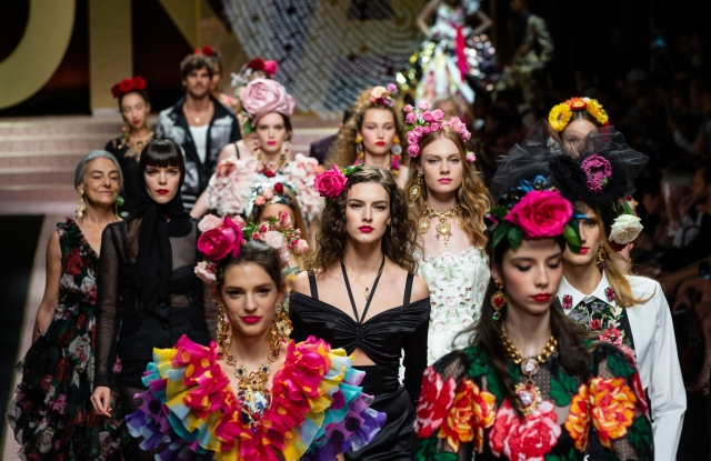 Models on the catwalkDolce & Gabbana show, Runway, Spring Summer 2019, Milan Fashion Week, Italy - 23 Sep 2018