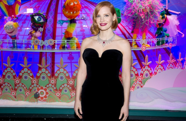 Jessica Chastain at Galeries Lafayette