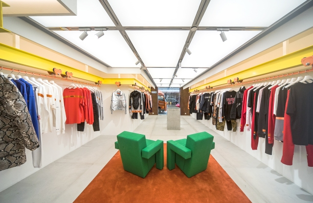 Heron Preston's first shop is located at 55 Paterson Street in Hong Kong's Causeway Bay.