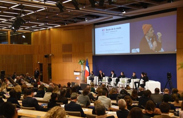 Emma François, Jean-Bernard Della Chiesa, Pierre Humblot-Ferrero, Nicolas Ivars, Ulric Jerome and Eliott Jabès at the Forum de la Mode
