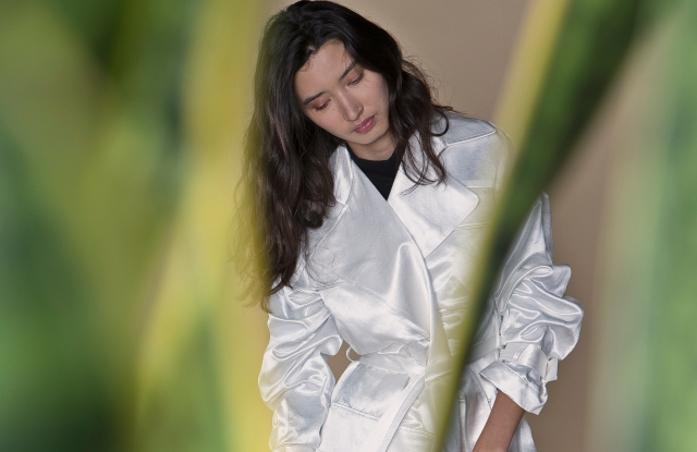 """The """"Hitchhiker Trench"""" in white. Photo courtesy of Arielle."""