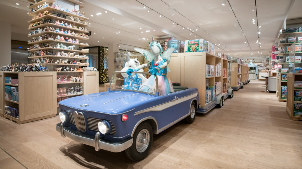 The toy section of Le Bon Marché's remodeled kid department