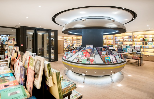 The book section of Le Bon Marché's refurbished kids' department.