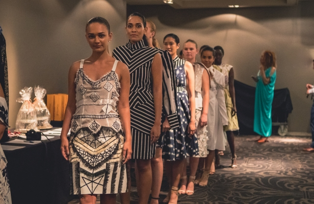 Models in a collection by Fijian designer Laisiasa Davetawalu at the Bula Ball in Sydney on Nov. 2.
