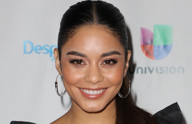 "MIAMI, FL - AUGUST 2:  Vanessa Hudgens is seen on the set of ""Despierta America"" at Univision Studios to promote the film ""Dog Days"" on August 2, 2018 in Miami, Florida.  (Photo by Alexander Tamargo/Getty Images)"