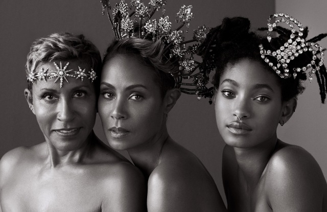 Adrienne Banfield-Norris, Jada Pinkett-Smith and Willow Smith on the debut digital cover for the Harper's Bazaar website.