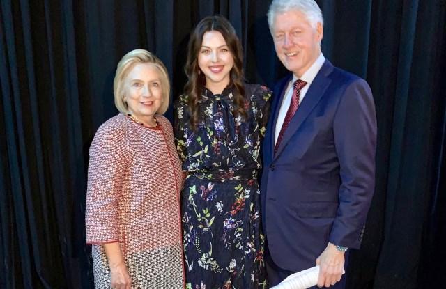 Tanya Taylor with Hillary and Bill Clinton.