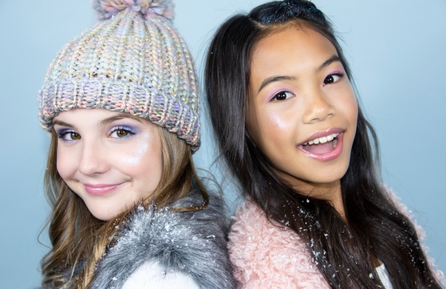 Kid influencers Piper Rockelle and Jessalyn Grace star in Petite 'N Pretty's holiday campaign.