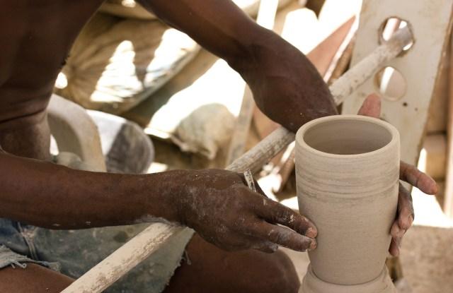Artisan in Haiti.