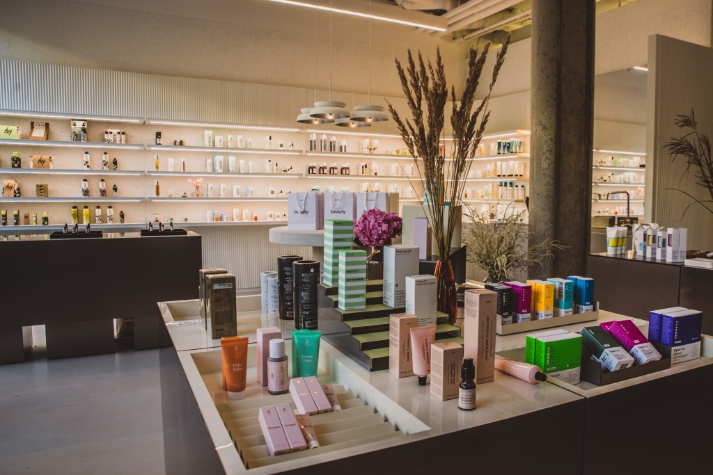 Inside Zalando's Beauty Station.