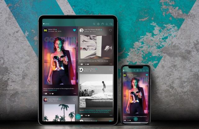 Vero's iPad version and iPhone app