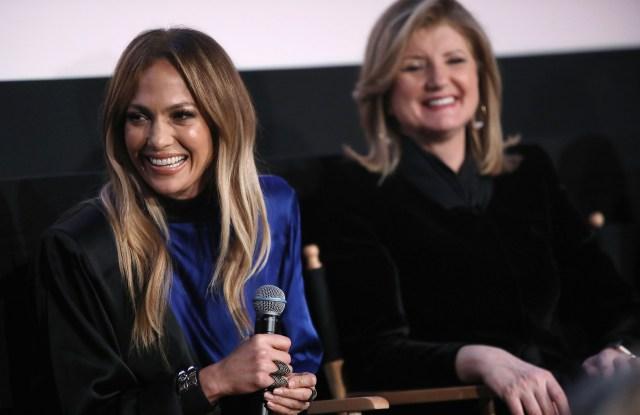 Jennifer Lopez and Arianna Huffington