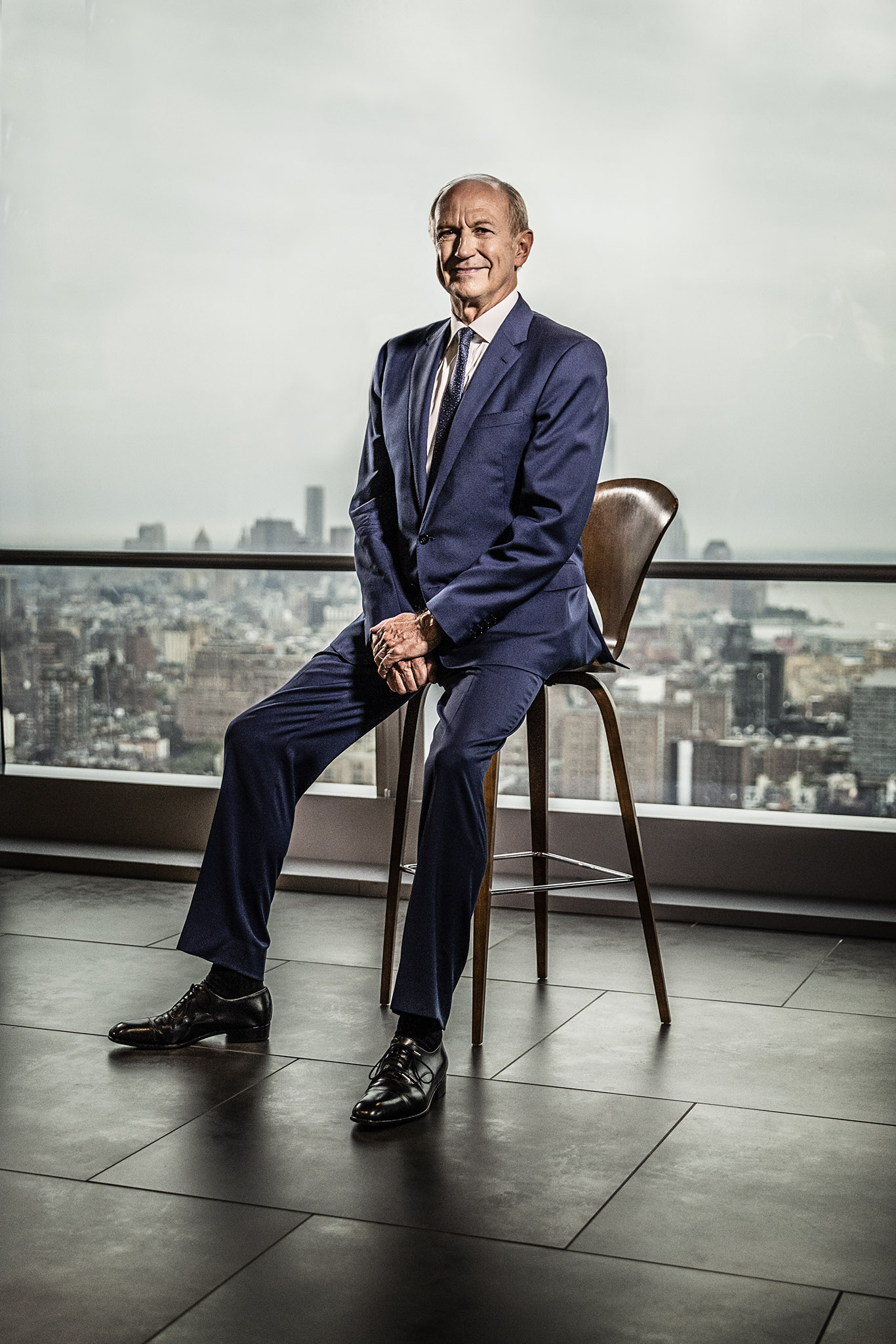 Jean-Paul Agon at the L'Oreal office in Hudson Yards, New York.