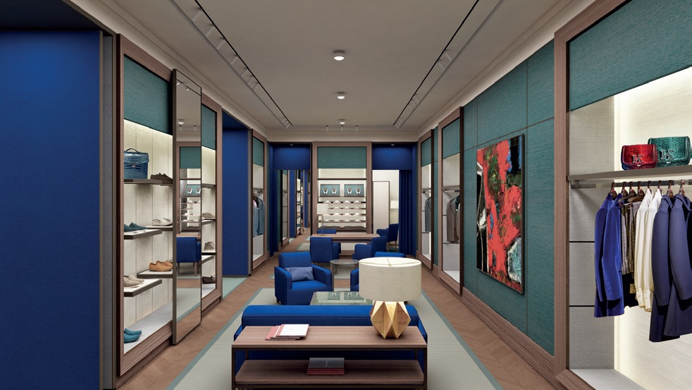A rendering of the Kiton store at The Wynn in Las Vegas.