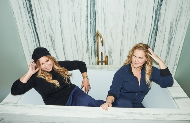 Leesa Evans and Amy Schumer in an ad image.
