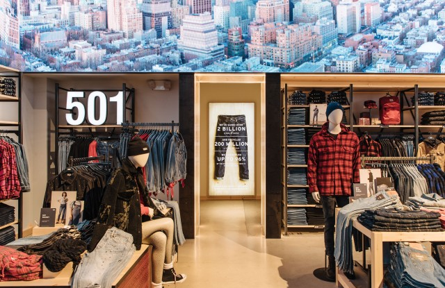 The Levi's store in Times Square.