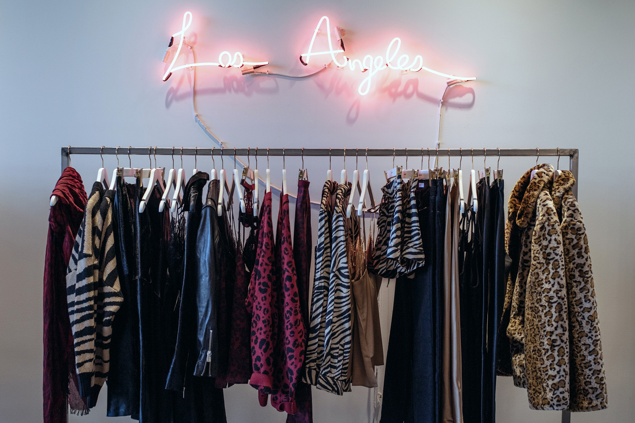 A rack in the Anine Bing Los Angeles store.