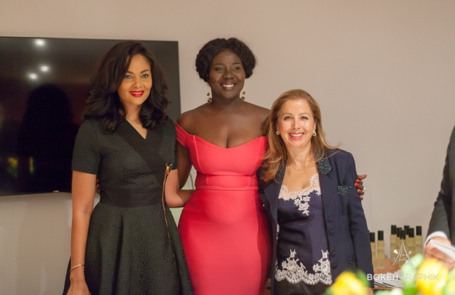 Menaye Donkor, Roberta Annan and Karine Ohana.