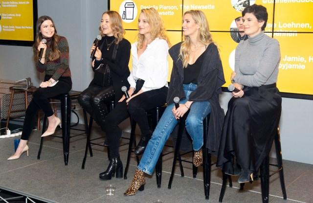 From left: Daniella Pierson, Poppy Jamie, Danielle Duboise + Whitney Tingle, Elise Loehnen.