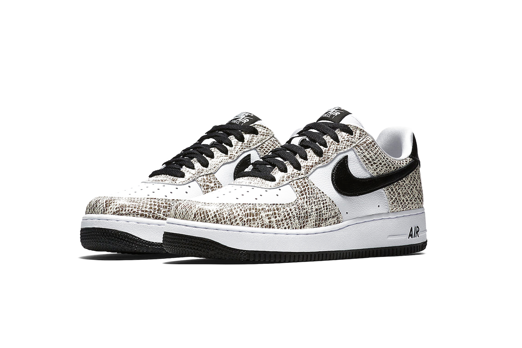 Nike Cocoa Snake Air Force 1s