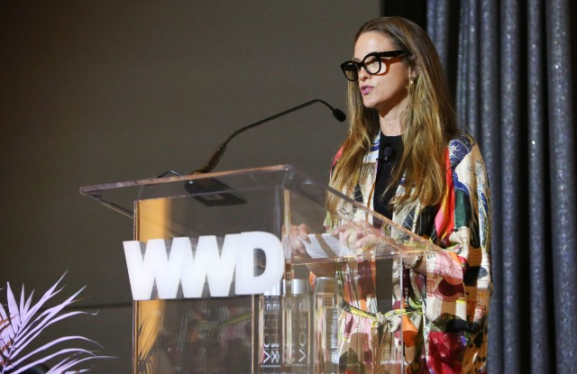 Kristen Sosa, chief merchant at Olivela, discusses the power of retail with a cause at WWD's Digital Forum in L.A.